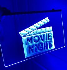 Movie Night Led Light Sign for Game Room, Movie Theater ,Bar,Man Cave. New!