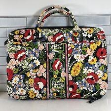 """Vera Bradley Floral Design 17"""" Laptop Computer Hard Shell Carry Bag"""