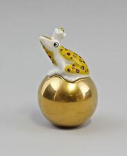 Kämmer Porcellana Rana su d'oro Sfera giallo H8,5cm 9944269