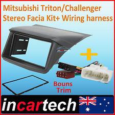 MITSUBISHI Triton ML-MN Double-Din Facia Kit + ISO Wiring Harness fascia panel