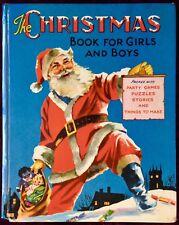 THE CHRISTMAS BOOK Boys & Girls ~ Vintage 1950's Santa Children's Story Book