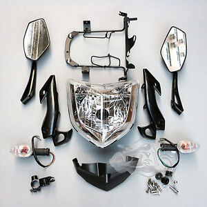 Motorcycle Headlight Set Fit For Yamaha FZ1N 2006-2015 Head Light Assembly 07 08