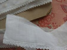 Tiny Sheer Embroidered Lace Trim  4+ yards vintage cotton