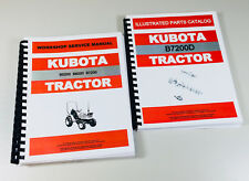 KUBOTA B7200D 4WD TRACTOR SERVICE REPAIR MANUAL PARTS CATALOG SHOP SET OVHL
