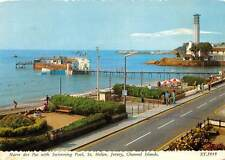 Channel Islands, Jersey, St. Helier, Havre des Pas with Swimming Pool, Pier