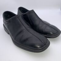 Rockport Black Leather Bicycle Toe Gore Slip on Loafer Shoes 503002 Men's 10 M