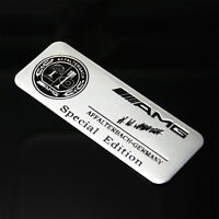 1 Pcs AMG Apple Tree Black Silver BADGE Decal Emblems Adhesive Sticker All Type