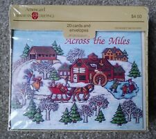 Vintage New in Box Christmas American Greetings Americard 20 Cards and Envelopes