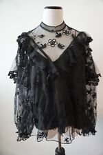 NEW Lace Sheer Blouse Size S