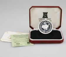 1980 ISLE OF MAN Sterling SILVER Proof Crown, Bicentenary of the Derby (SZ30)