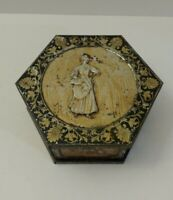 Vintage Huntley and Palmer Biscuits Tin Pentagon London Antique Collectible