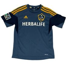 Youth Adidas LA Galaxy Soccer Jersey Size 9-10 Navy MLS