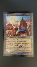 DCI Promo ** City of Brass (JSS) (FOIL) (Signed) (NM!) ** Mtg Magic (Tedin)