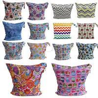 New Simple Reusable Baby Cloth Diaper Wet Dry Bag Tote Waterproof Mummy Handbag