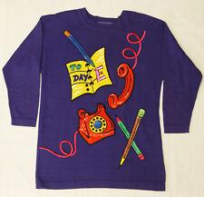 Vtg Escada Purple To Day E Embroidered Sequined Sweater Sz 38 Teacher Secretary
