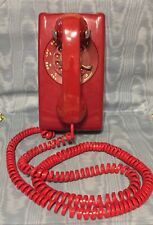 Vintage Famous Red  Wall Phone w/25' Cord         USA
