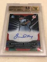 2015 Bowman Chrome Draft JAMES KAPRIELIAN BOWMAN SCOUTS AUTO RC 30/99 BGS 9.5/10