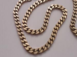 collana vintage catena ottone dorato 4mm lunga 40cm uomo donna unisex