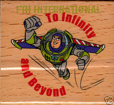 To Infinity and Beyond ~ Wood Mount Rubber Stamp 599F02 Buzz Lightyear Toy Story