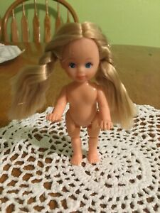 """Simba 5""""mini Doll With Bendable Knees Long Soft Blonde braids"""