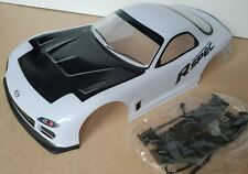 1/10 RC car 190mm on road drift Mazda RX7 Body Shell White
