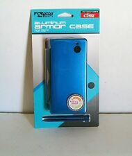 NEW Sealed Aqua Blue Aluminum Shell with 2 Stylus Pens for Nintendo DSi