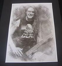 Metallica Cliff Burton Poster Sketch Print New A3 Size