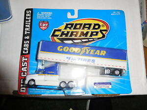 NEW VINTAGE ROAD CHAMPS GOODYEAR TRACTOR TRAILER FORD 1997