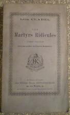 Léon CLADEL/ LES MARTYRS RIDICULES/ PRÉFACE DE BAUDELAIRE/ 1880, sur papier bleu