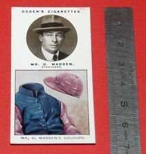 JOCKEY 1926 OGDEN'S CIGARETTES CARD TRAINERS OWNERS' COLOURS 19 O. MADDEN