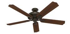 """HUNTER 60"""" Large Ceiling Fan w/ Remote, Royal Oak, New Bronze 54018"""