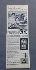 PUB PUBLICITE ANCIENNE ADVERT CLIPPING 311017 / CAFETIERE MOKA SEB LA PAUSE CAFE