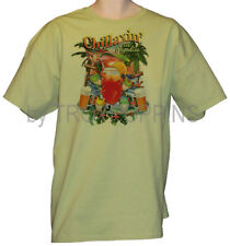 1-Chillaxin In Paradise Vacation Frog Beach Wear Apparel Graphic Printed T-Shirt