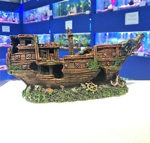 One Piece 30 cm Eagle Shipwreck Aquarium Fish Tank Ship Ornament PS3