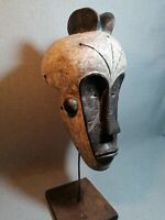 African mask Tribe Wood Tribal Wall Hand Vintage Art Wooden Face Decor 1343