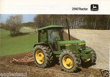 Farm Tractor Brochure - John Deere - 2140 - c1985 (F2110)