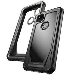 Poetic Shockproof Case For Google Pixel 4A Cover with Screen Protector Black