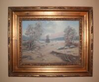 CHARMING VTG CALIFORNIA PLEIN AIR IMPRESSIONISM DESERT LANDSCAPE OIL PAINTING