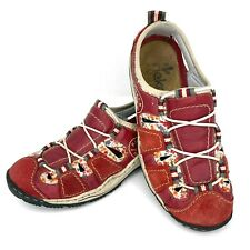 RIEKER Antistress Womens Size EU 39 US 8 - 8.5 Red Suede Leather Floral Bungee