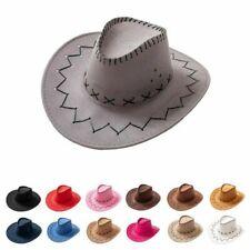 Cappello da cowboy per donna Uomo Bambini Cappello a tesa larga in pelle...