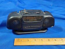 Vintage Mini am/fm Boombox Radio 190-2225 International Twin Speakers Battery Op