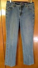 Women's Gloria Vanderbilt Size 10 Stretch Button Flap pocket Blue Denim Jeans