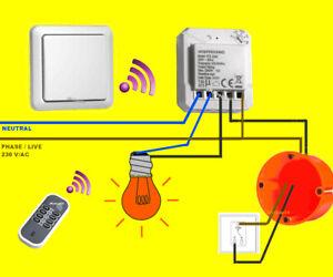 FUNK-LICHTSCHALTER-SET Zeitschalter LED/LEUCHTEN per Funk+FB schalten OHNE kabel