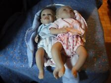 """Two Marieta Winters Baby Dolls Girl  #125  Boy  #333   1-07 About 9"""" Very Detail"""