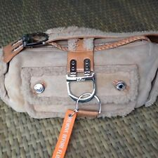 Winter Collection Authentic Dior Beige Reversed Fur Suede Leather Bag