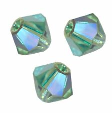 15 Perles Toupies 4mm  en cristal Swarovski  ERINITE AB2X