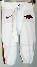 Arkansas Razorbacks Nike Game Worn Football Pants White Red Hog Swoosh Size 30
