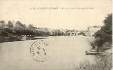 VILLENEUVE-SUR-LOT 19 le lot écluse et barrage de gajac