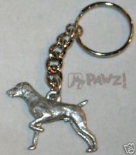 GERMAN POINTER Shorthair Dog Fine Pewter Keychain Key Chain Ring
