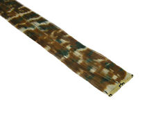 "CLIP-IN 12"" HAIR EXTENSION CAMOUFLAGE CLASSIC CAMO PRINT EMO SCENE FUNKY PUNK"